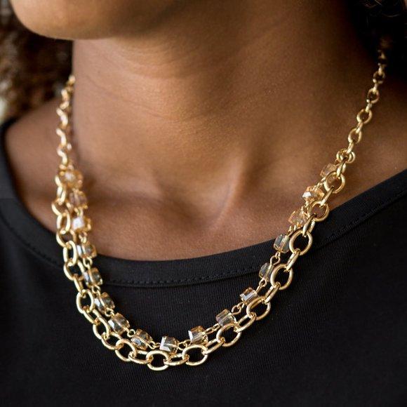 Block Party Princess Gold Necklace